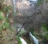 La cascade de Vegay sur le Riou de Vegay à Aiglun