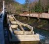 Passe à poisson sur la Sorgue à Fontaine de Vaucluse