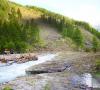 Dégâts dû à une avalanche sur le bassin du Guil